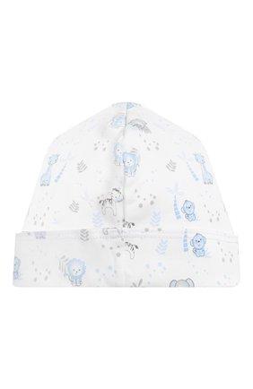 Детского хлопковая шапка MAGNOLIA BABY голубого цвета, арт. 649-50P-LB | Фото 2