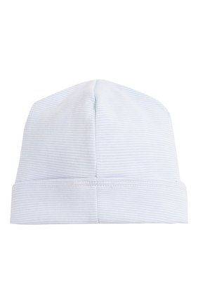 Детского хлопковая шапка MAGNOLIA BABY голубого цвета, арт. 649-50-LB | Фото 2