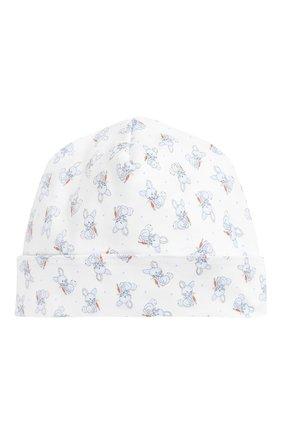 Детского хлопковая шапка MAGNOLIA BABY голубого цвета, арт. 755-50P-LB | Фото 1