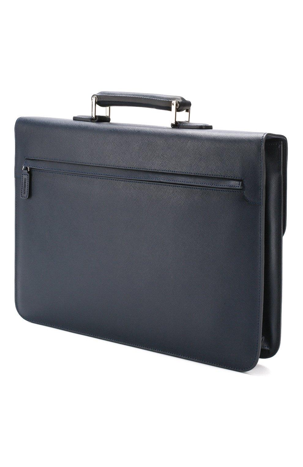 Мужской кожаный портфель CORNELIANI темно-синего цвета, арт. 00TD15-0021812/00 | Фото 3