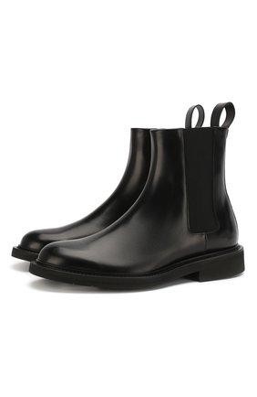 Мужские кожаные челси BOTTEGA VENETA черного цвета, арт. 608735/VCLQ0 | Фото 1
