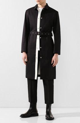 Мужские кожаные челси BOTTEGA VENETA черного цвета, арт. 608735/VCLQ0 | Фото 2