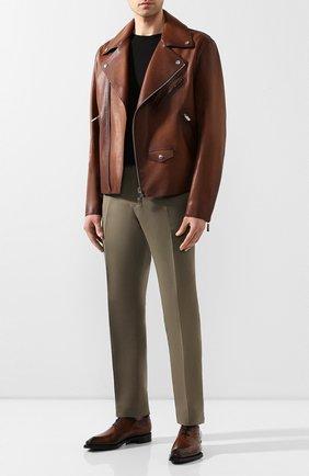 Мужские кожаные оксфорды  BERLUTI темно-коричневого цвета, арт. S5082-001 | Фото 2