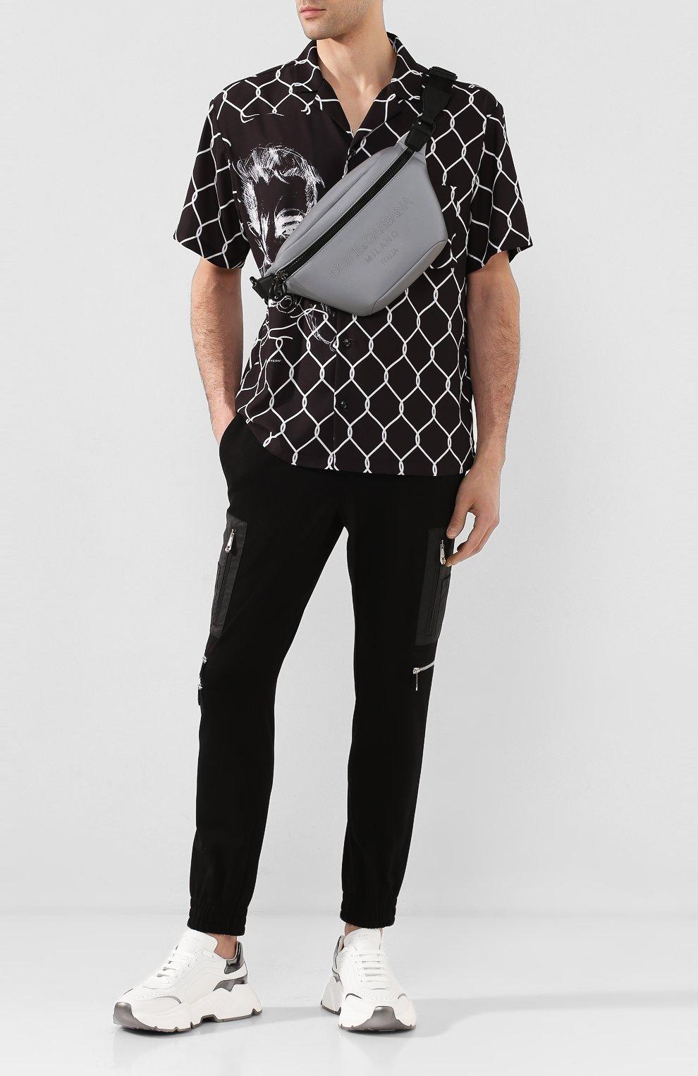Мужские кожаные кроссовки daymaster DOLCE & GABBANA белого цвета, арт. CS1791/AX588 | Фото 2 (Материал внутренний: Натуральная кожа; Подошва: Массивная)