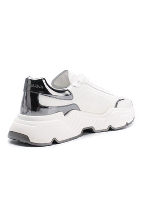 Мужские кожаные кроссовки daymaster DOLCE & GABBANA белого цвета, арт. CS1791/AX588 | Фото 4 (Материал внутренний: Натуральная кожа; Подошва: Массивная)
