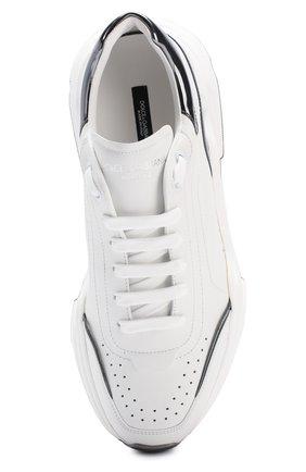 Мужские кожаные кроссовки daymaster DOLCE & GABBANA белого цвета, арт. CS1791/AX588 | Фото 5 (Материал внутренний: Натуральная кожа; Подошва: Массивная)