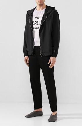 Мужские кожаные слиперы JIL SANDER серого цвета, арт. JI34505A-11506 | Фото 2