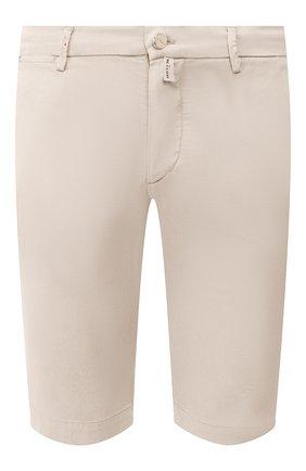 Мужские шорты из смеси льна и хлопка KITON светло-бежевого цвета, арт. UFBLACJ07S51 | Фото 1