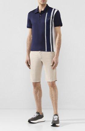 Мужские шорты из смеси льна и хлопка KITON светло-бежевого цвета, арт. UFBLACJ07S51 | Фото 2