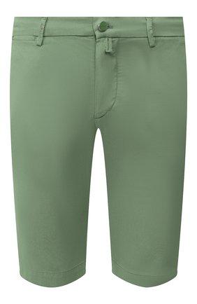 Мужские шорты из смеси льна и хлопка KITON зеленого цвета, арт. UFBLACJ07S51 | Фото 1 (Принт: Без принта; Материал внешний: Хлопок, Лен; Длина Шорты М: До колена; Мужское Кросс-КТ: Шорты-одежда; Стили: Кэжуэл)