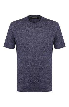 Мужская льняная футболка ERMENEGILDO ZEGNA синего цвета, арт. UU553/706 | Фото 1