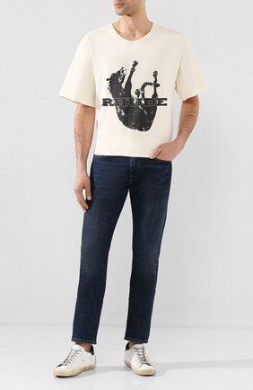 Мужские джинсы POLO RALPH LAUREN синего цвета, арт. 710802080 | Фото 2
