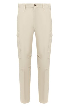 Мужской хлопковые брюки-карго TOM FORD кремвого цвета, арт. BU111/TFP222 | Фото 1