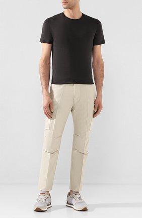 Мужской хлопковые брюки-карго TOM FORD кремвого цвета, арт. BU111/TFP222 | Фото 2
