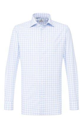 Мужская хлопковая сорочка LUIGI BORRELLI голубого цвета, арт. EV08/ARCHILLE/TS9400 | Фото 1