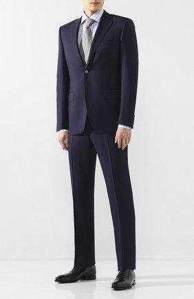 Мужская хлопковая сорочка LUIGI BORRELLI голубого цвета, арт. EV08/ARCHILLE/TS9400 | Фото 2