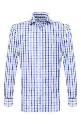 Мужская хлопковая сорочка LUIGI BORRELLI синего цвета, арт. EV08/LUCIAN0/TS9109 | Фото 1