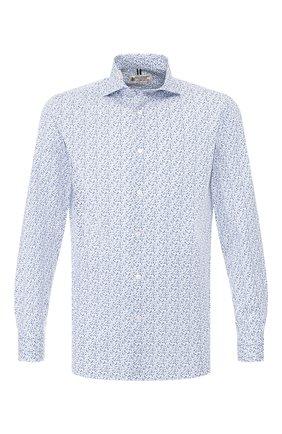 Мужская хлопковая сорочка LUIGI BORRELLI синего цвета, арт. EV08/NAND0/TS9024 | Фото 1