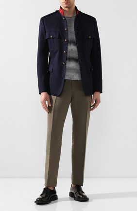 Мужские хлопковые брюки TOM FORD хаки цвета, арт. 774R25/61004Z | Фото 2