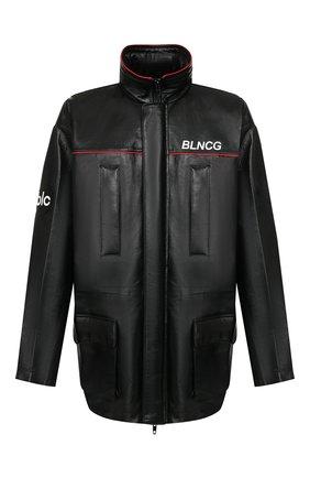 Мужская кожаная куртка BALENCIAGA черного цвета, арт. 620774/TIS06 | Фото 1
