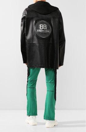 Мужская кожаная куртка BALENCIAGA черного цвета, арт. 620774/TIS06 | Фото 2