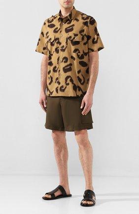 Мужская хлопковая рубашка STELLA MCCARTNEY бежевого цвета, арт. 598690/S0N18 | Фото 2