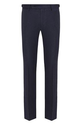 Мужские шерстяные брюки ANDREA CAMPAGNA темно-синего цвета, арт. SC/1 FIBB/VB5478 | Фото 1 (Длина (брюки, джинсы): Стандартные; Материал внешний: Шерсть; Случай: Формальный; Стили: Классический)