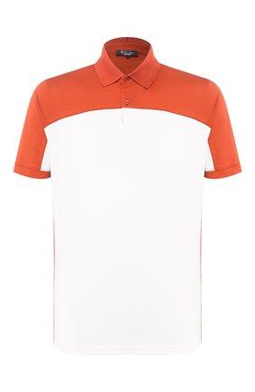 Мужское поло LORO PIANA оранжевого цвета, арт. FAI9778 | Фото 1