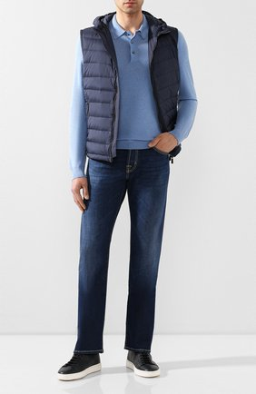 Мужские джинсы JACOB COHEN темно-синего цвета, арт. J620 C0MF 00919-W1/53 | Фото 2