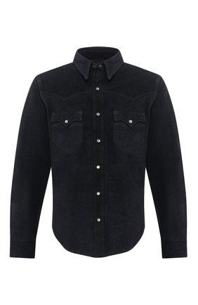Мужская замшевая рубашка RRL синего цвета, арт. 782774667 | Фото 1