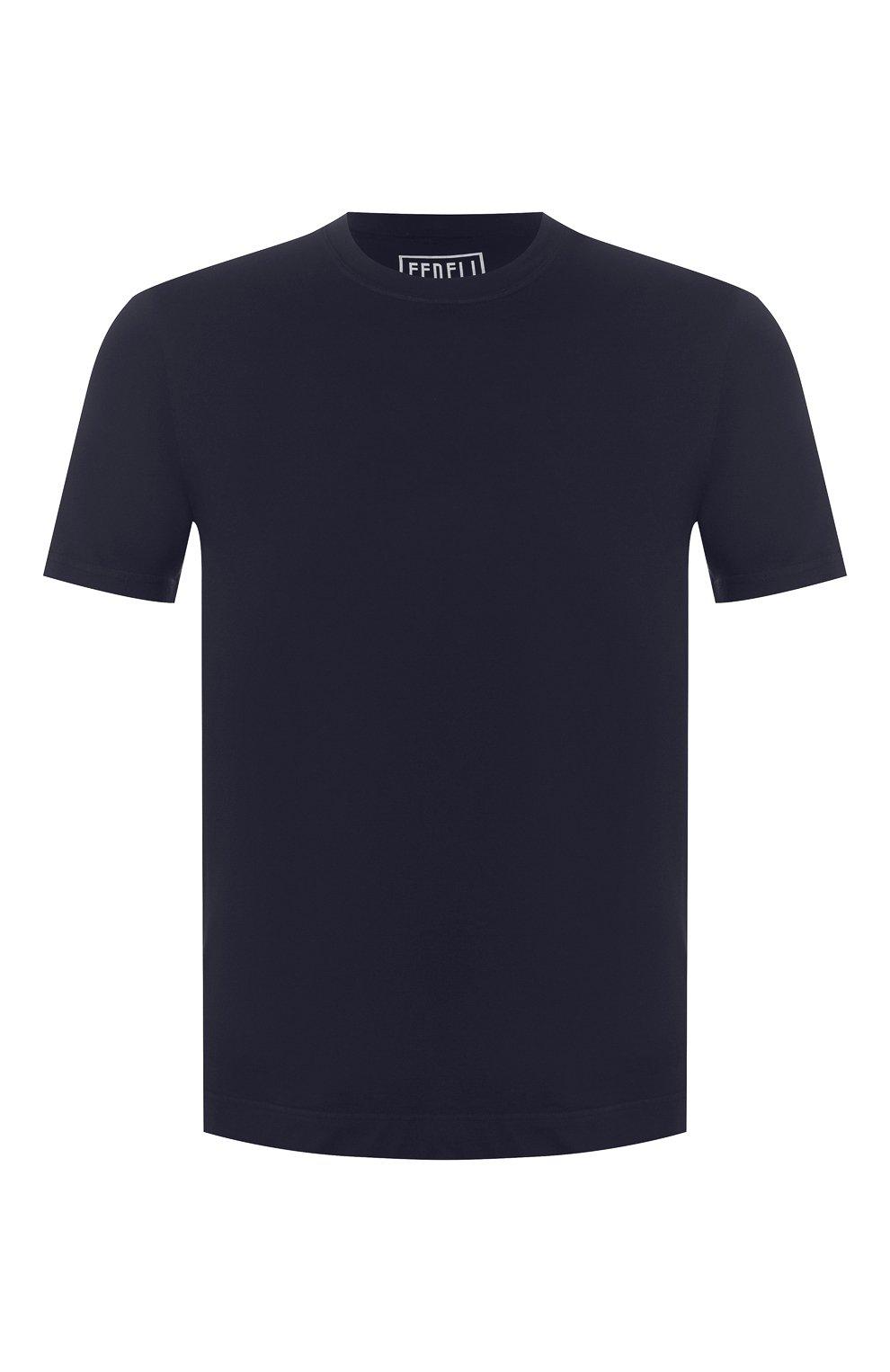 Мужская хлопковая футболка FEDELI темно-синего цвета, арт. 3UED0103 | Фото 1