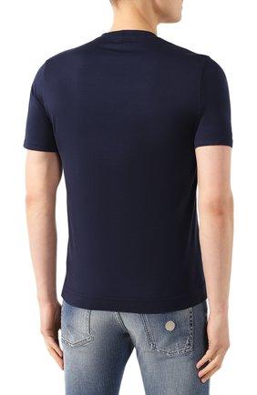 Мужская хлопковая футболка FEDELI темно-синего цвета, арт. 3UED0103 | Фото 4