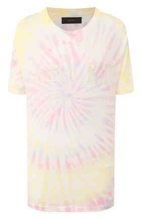 Женская хлопковая футболка AMIRI разноцветного цвета, арт. Y0M03437CJ | Фото 1