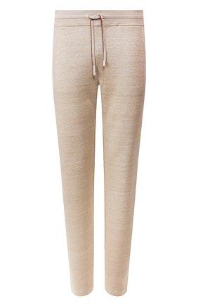 Мужской льняные брюки LORO PIANA бежевого цвета, арт. FAI9939   Фото 1