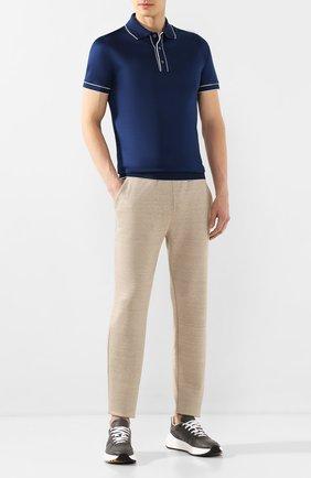 Мужской льняные брюки LORO PIANA бежевого цвета, арт. FAI9939   Фото 2