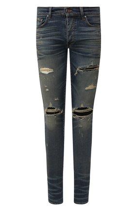 Мужские джинсы AMIRI темно-синего цвета, арт. Y0M01398SD | Фото 1