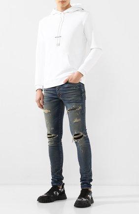 Мужские джинсы AMIRI темно-синего цвета, арт. Y0M01398SD | Фото 2