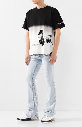 Мужские джинсы AMIRI голубого цвета, арт. Y0M01409SD | Фото 2