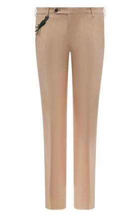 Мужской брюки из смеси шерсти и хлопка BERWICH светло-коричневого цвета, арт. SC/1/LR120U | Фото 1