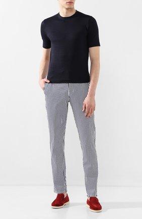 Мужской хлопковые брюки BERWICH синего цвета, арт. SPIAGGIA/PU0839X | Фото 2