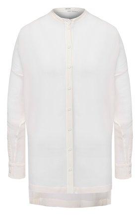 Женская рубашка из смеси хлопка и шелка ISABEL BENENATO белого цвета, арт. DW62S20 | Фото 1