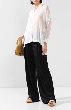 Женская рубашка из смеси хлопка и шелка ISABEL BENENATO белого цвета, арт. DW62S20 | Фото 2