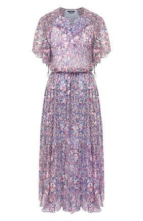 Женское шелковое платье ISABEL MARANT голубого цвета, арт. R01729-20E016I/0DELIA | Фото 1