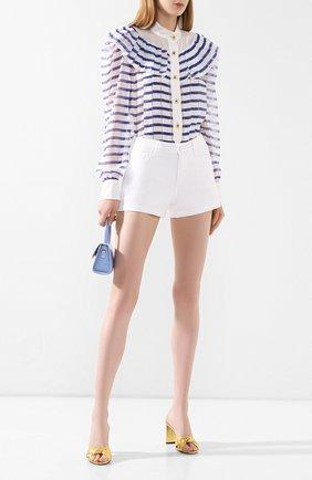 Женские джинсовые шорты PAIGE белого цвета, арт. 4281B58-4520 | Фото 2
