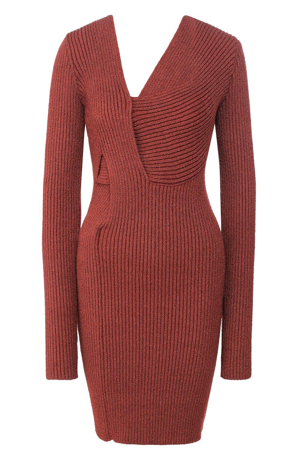 Женское платье BOTTEGA VENETA коричневого цвета, арт. 618640/VKSD0 | Фото 1