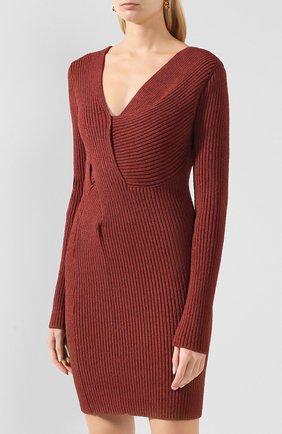 Женское платье BOTTEGA VENETA коричневого цвета, арт. 618640/VKSD0 | Фото 3