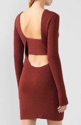 Женское платье BOTTEGA VENETA коричневого цвета, арт. 618640/VKSD0 | Фото 4