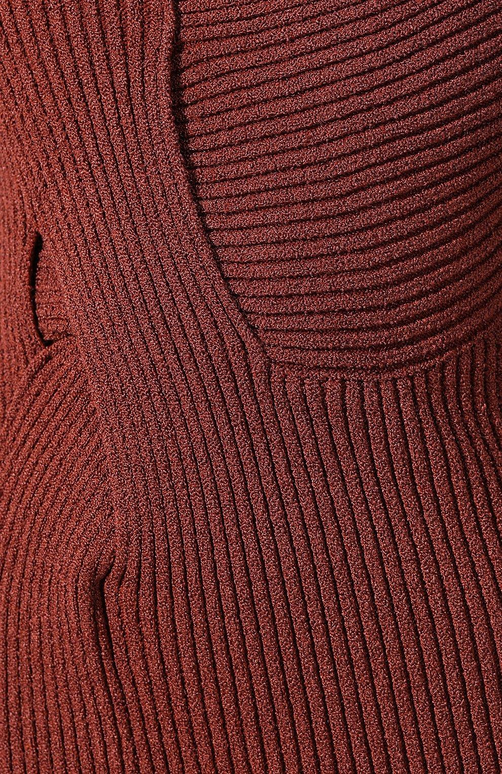 Женское платье BOTTEGA VENETA коричневого цвета, арт. 618640/VKSD0 | Фото 5