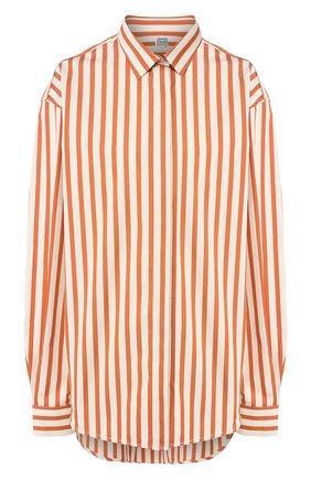 Женская хлопковая рубашка TOTÊME оранжевого цвета, арт. LAG0 202-752-709 | Фото 1