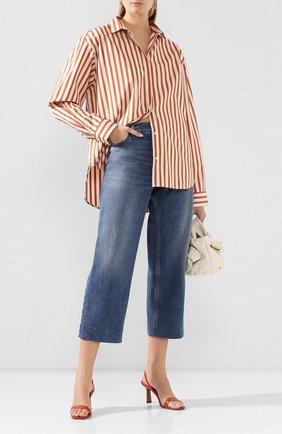 Женская хлопковая рубашка TOTÊME оранжевого цвета, арт. LAG0 202-752-709 | Фото 2